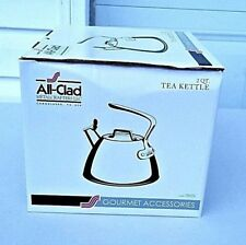 All Clad Polished Stainless Steel 2 Quart Tea Kettle E86199 NEW
