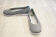 Propet TravelFit Flex Knit Ballet Flats, Women's Size 10D, Black/White