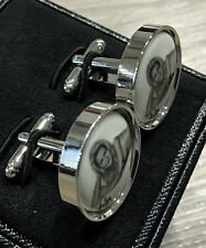 Paul Smith NAKED LADY Cufflinks with Round T Bar Swings