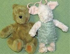 "Disney GUND Classic POOH & Musical PIGLET Plush Stuffed Animals 10"" & 12"" Baby"