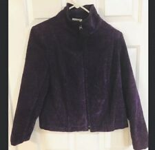 Renaissance Women's Purple Zippered Jacket Petite Small -EUC