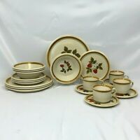20 PIECE MIKASA LUSCIOUS STONE MANOR DINNERWARE SET DINNER SALAD PLATES BOWLS