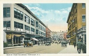 PAWTUCKET RI – Main Street from the Bridge