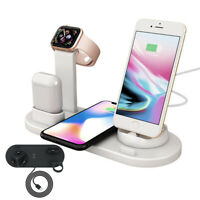 4in1 Qi Fast Wireless Charging Dock Stand Station for Apple Watch iPhone