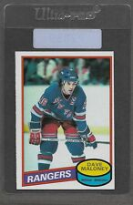 ** 1980-81 OPC Dave Maloney #7 (NRMT+) High Grade Hockey Set Break ** P2889