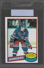 ** 1980-81 OPC Dave Maloney #7 (NRMT+) High Grade Hockey Set Break ** P2889