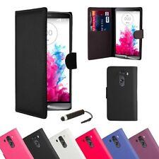 Fundas con tapa de piel sintética para teléfonos móviles y PDAs LG