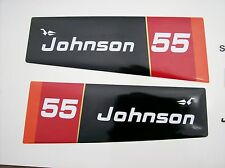 1976 Johnson Outboard hood decals 55 hp 2 cyl