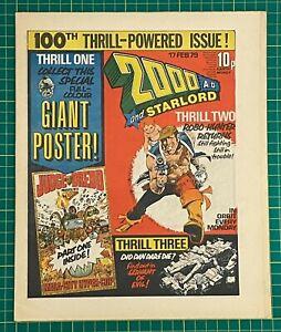 Bagged & Boarded 2000 AD Comic Prog 100 - 17 Feb 1979 - Ref 2K234