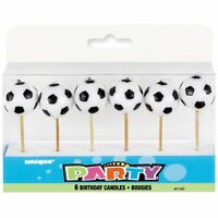 Soccer Ball Birthday Candles 6ct