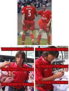 """MILAN BAROS signed Autographed """"LIVERPOOL FC"""" 8X10 PHOTO c PROOF Czech Rep COA"""