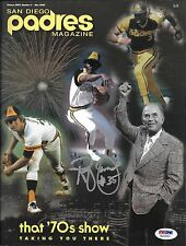 Randy Jones Signed May 2003 Padres Magazine Game Program PSA/DNA COA Autograph