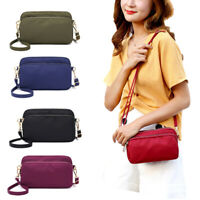 Women Phone Purse Nylon Crossbody Small Messenger Shoulder Bag Purse Clutch New