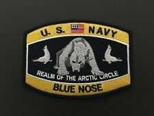Us Navy Realm Of The Arctic Circle Blue Nose Patch Measures 4 1/5 X 3 1/4 Inches