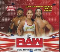 2019 Topps WWE RAW New Sealed Wrestling Trading Cards 168c Retail DISPLAY Box FS