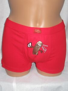 Italian Men's Sexy Red Boxers. Hilarious. S, M, L. Valentine Gift