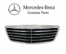 Mercedes W220 S-Class Front Center Grille Assembly Black Genuine 22088005839040