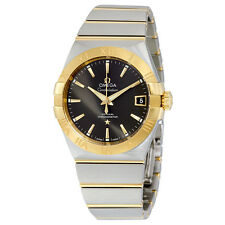 Omega Constellation Co-Axial Grey Dial Stainless Steel with Yellow Gold Mens
