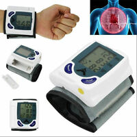 Digital LCD Wrist Cuff Arm Blood Pressure Monitor Heart Beat Meter Machine HY