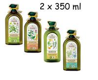 1,00Eur/100ml)  Shampoo Grüne Apotheke Apteka versch. Sorten 2x 350 ml