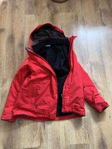 Jack Wolfskin Womens 3-in- 1 Jacket Size 12-14 Red Removeable Fleece Texapore