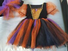 PRINCESS WITCH HALLOWEEN COSTUME - SIZE 2T - DRESS & HAT