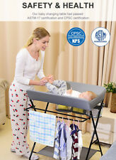 Baby Changing Table Folding Diaper Station Nursery Organizer for Infant Living