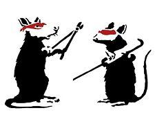A3 Art Poster -  Rat Burglars    -  Banksy Print