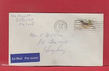 25 cent ir mail single use Bird stamp to HONG KONG, 1977, very nice Canada cover