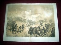 Stampa Incisione Risorgimento - Battaglia di S. Martino - inc. Cerruti 1860