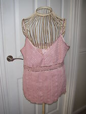 BNWT PRETTY M&S AUTOGRAPH PINK BEADED TOP IN SZ 14  WAS £35+ BUST 38""
