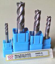 CNC Mill Router 4x Mirco Grain Carbide End Mill Cutter can Cut HRC 55 Material