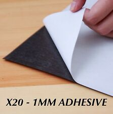 20 x A4 Magnet Sheets Adhesive Front Layer Home and Office Bulk Buy 1mm 1.0mm