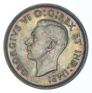 Better Date - 1940 Canada 25 Cents - SILVER *284