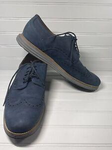 Cole Haan Blue Suede Grand Shoes Men's Size 12