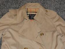 LADIES AUTH Vintage Classic Burberrys BURBERRY TAN Trench W Nova Check 14 L COAT