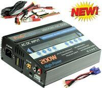 Powerhobby H200 AC / DC Dual Fast Lipo 200w Battery Charger : Proboat EC5 Banana