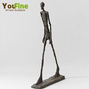 Bronze Walking Man Statue Sculpture by Giacometti Vintage Art Bronze Sculpture