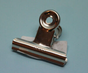 Briefklemmer Metall 50 mm Briefklammer silber