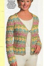 Floral Stripe Jacket Sweater Women'S Crochet Pattern Instructions