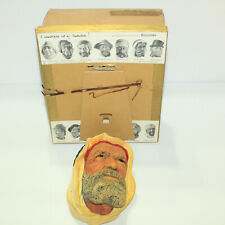Gorgeous Bossons Vtg Chalkware Head Congleton England- Syrian #36 w Original Box