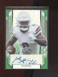2021 Leaf Metal Draft - Green - Autograph - Kylin Hill #1/10 (Packers)