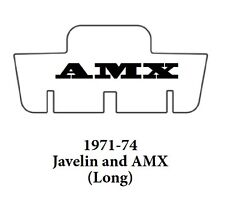 1971 1974 AMC Javelin Trunk Rubber Floor Mat Cover with A-070 AMX