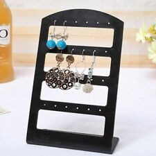 Top Ear Stud Display Rack Stand Holder Showcase Jewelry Earrings Black C884