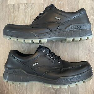 Ecco Track 25 Low Mens Black Leather Waterproof GTX Hiking Shoe Sz 45 US 11/11.5