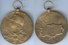 Médaille de prix - Femme casquée ange à la trompette d=49 mm