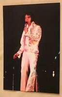 Elvis Presley Candid Photo Elvis in concert on stage singing
