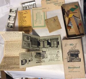 VINTAGE MODELTON MFG. HO SCALE NEWSSTAND craftsmans KIT dated 1949