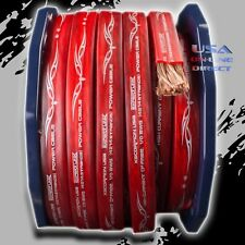 0 Gauge 25ft RED  Power Ground OFC Wire Copper FLAT Marine Cable 1/0 AWG US