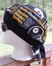 STEELERS PITTSBURG FOOTBALL DU RAG SKULL CAP BANDANA BIKER